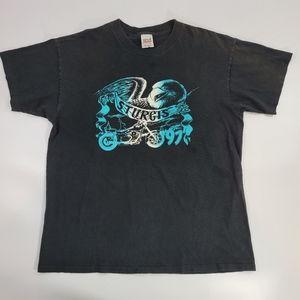 Vtg 1997 Sturgis Motorcycle Rally T-shirt Black XL